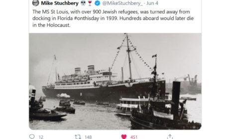 """Tragiczny rejs transatlantyku """"St. Louis"""""""